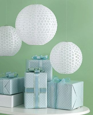 white and blue paper lanterns - Google Search