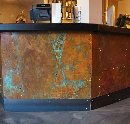 TEXTURED COPPER BAR FRONT - Google Search