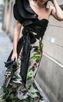 This **Johanna Ortiz** Oasis Town Silk Organza Skirt features an a-line shape and a high rise waist.