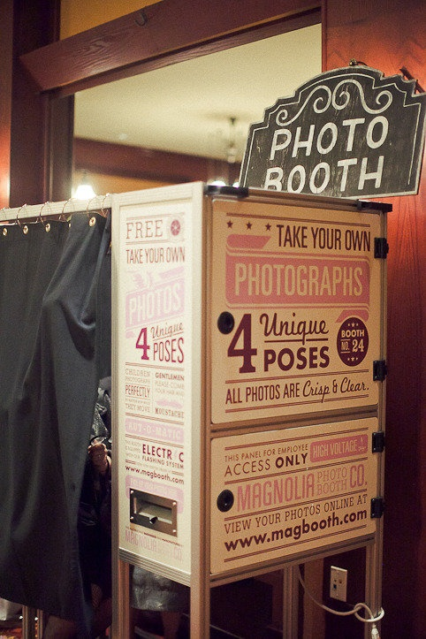 Photo Booth Happening//this would be awesome to have at a wedding for all the guests!