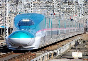 E5 series shinkansen on a Hayabusa service, March 2011