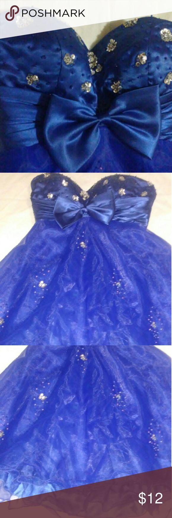 Royal blue very cute dress Strapless prom dress Dresses Strapless