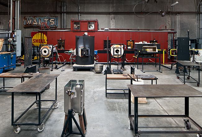Glassblowing area at theCrucible