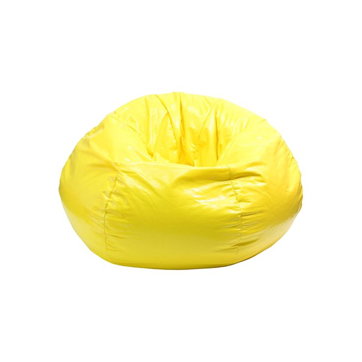 Medium Vinyl Bean Bag Chair - Yellow - Gold Medal
