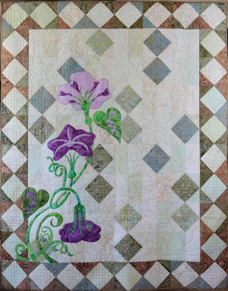 Morning Glories lap quilt