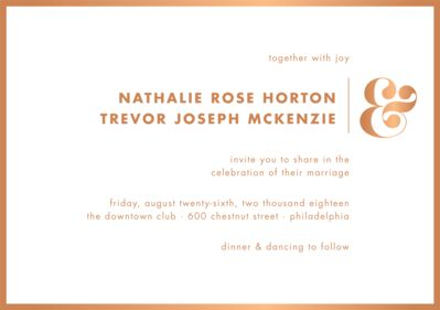 All Foil Ampersand Wedding Invitation