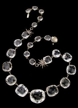 H. Stern, Moonlight Collection: Inspired by the soft glow of the Moon, this necklace features antique-cut rock crystal gems.