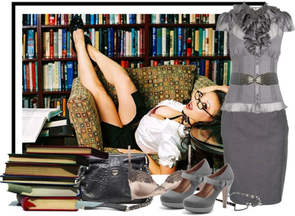 """""""Sexy Librarian"""" by klacreman on Polyvore"""