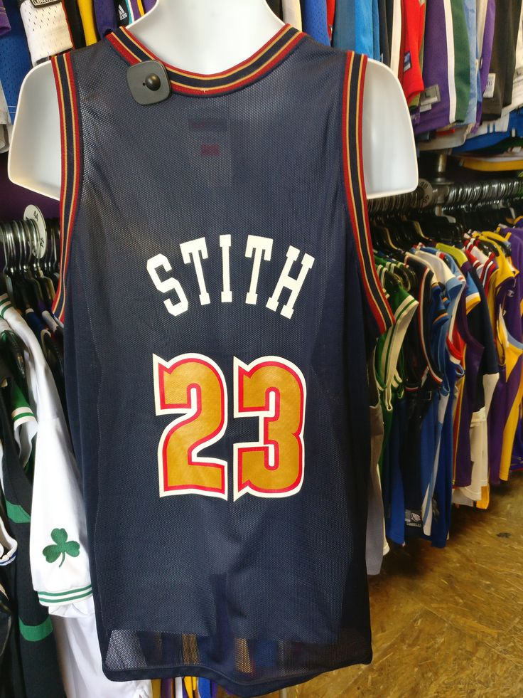 Vtg #23 BRYANT STITH Denver Nuggets NBA Champion Jersey 48 (Deadstock)