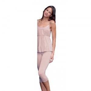 Elegante pigiama sp/pescatora in Crepe di Viscosa.    Creazione e Produzione interamente Made in Italy Autentico.