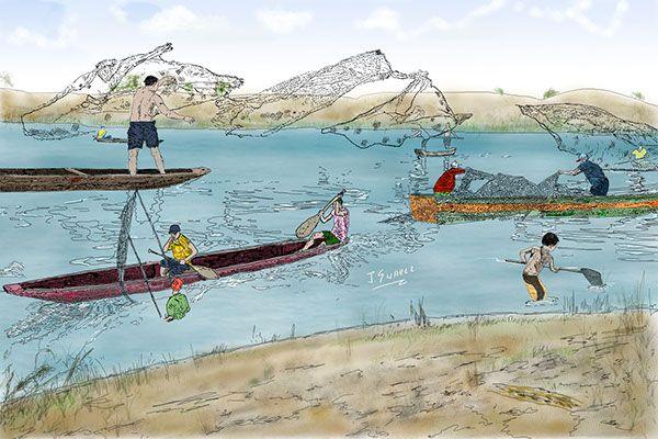 Ilustración Digital - Sobrepesca de recursos pesqueros