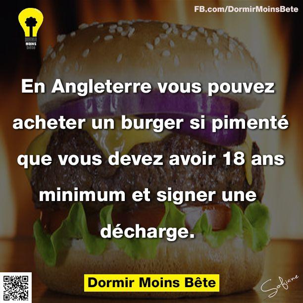 En Angleterre, vous pouvez acheter un burger si pimenté que vous devez avoir 18 ans minimum et signer une décharge.