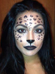 Cheetah Animal Halloween Makeup