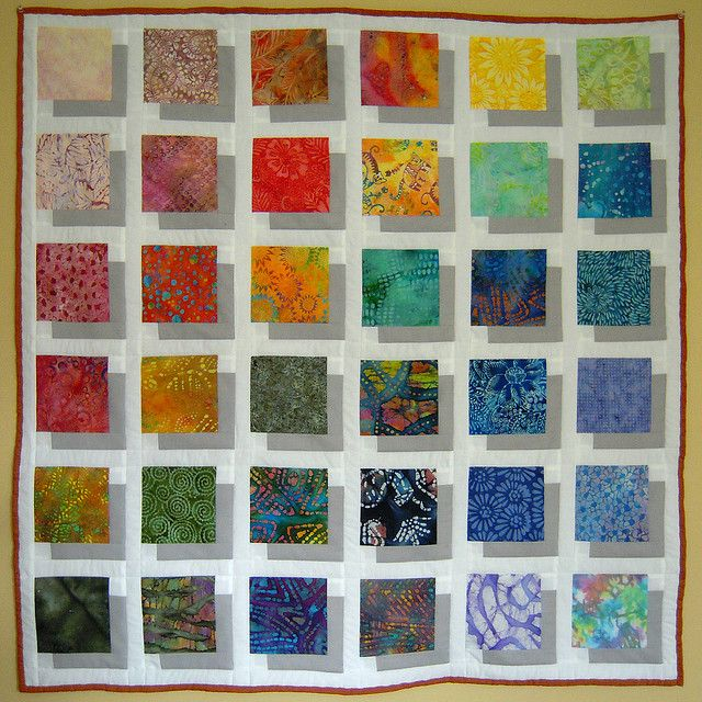 Transparency quilt done as a batik fabric display!