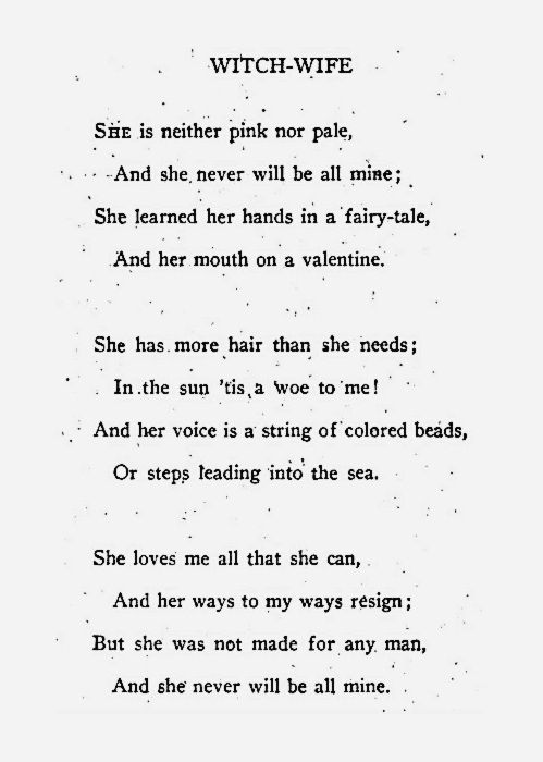 Poetry - Witch-wife  this isn't happiness™ - photo caption contains external link