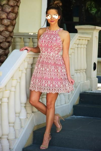 Beauty Within Dress: Dusty Rose/Cream