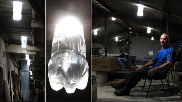 Como convertir botellas de plástico PET en eficaces lámparas de 50 W