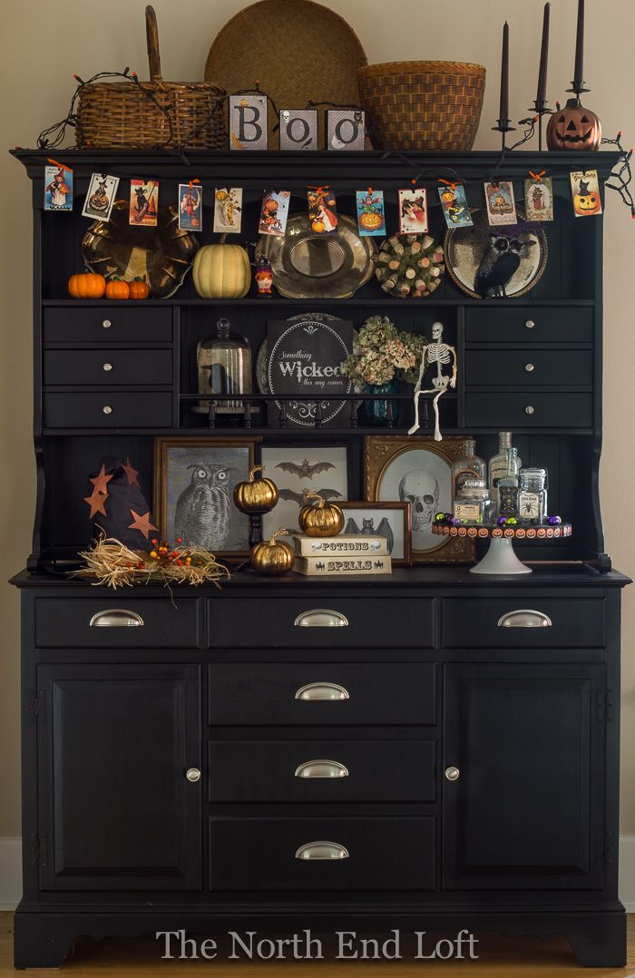 1000 ideas about hutch decorating on pinterest black for Hutch decor