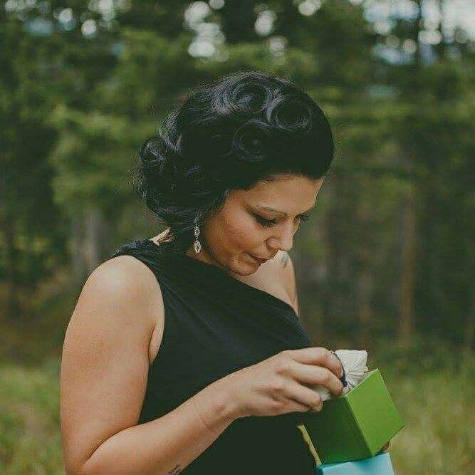 Glam bridesmaid hair!