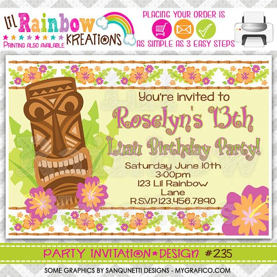 The 25 Best Luau Party Invitations Ideas On Pinterest