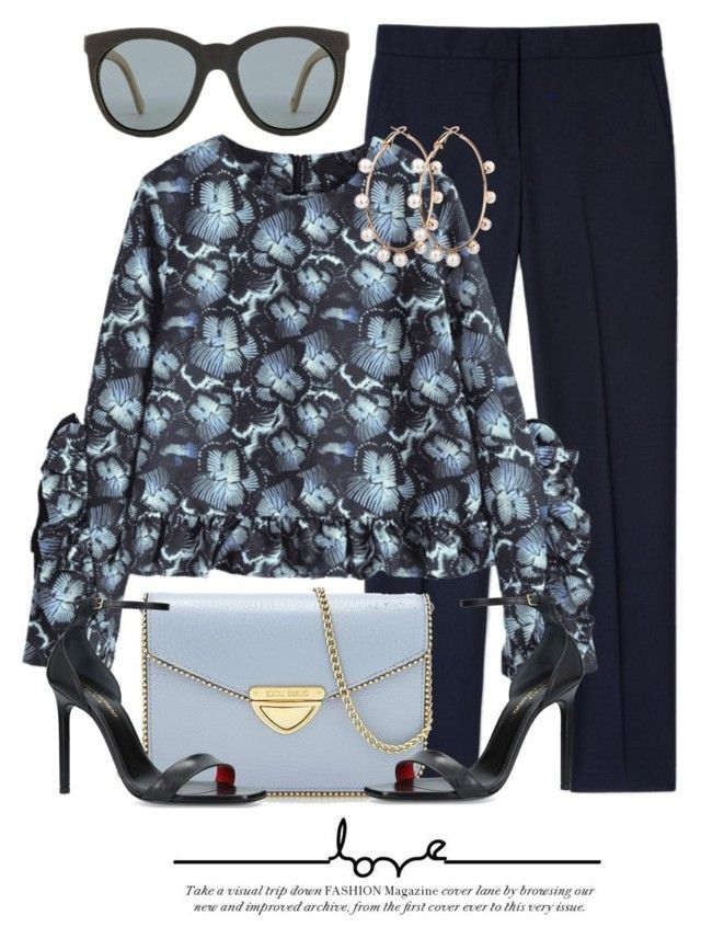 """In The Blue"" by monmondefou ❤ liked on Polyvore featuring Paul Smith, Saint Tropez and Yves Saint Laurent"