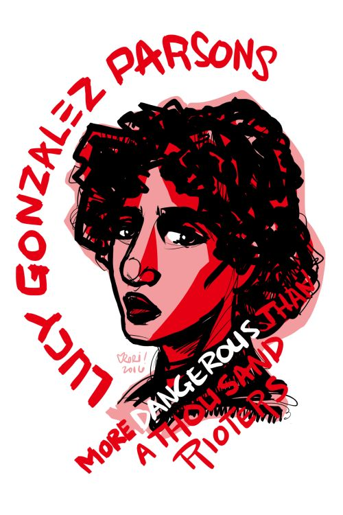 #100days100women Day 5: Lucy Gonzalez Parsons, labor organizer, writer, orator, co-founder of the IWW, class warrior, Chicago police agitator: https://en.wikipedia.org/wiki/Lucy_Parsons