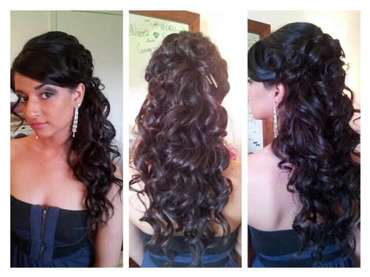 Half Up Half Down Curls With Wand