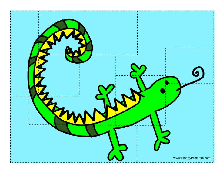 Lizard Puzzle printable for kids