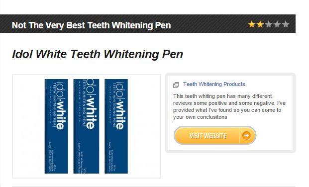 Idol White Teeth Whitening Pen