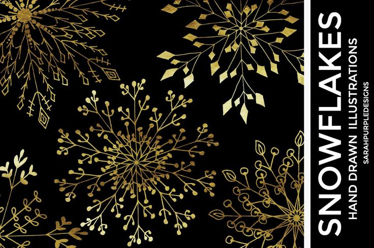 Gold Snowflake Clipart - Christmas Clipart - Snowflake Clipart - Hand Drawn Snowflakes - Winter Clipart - Gold Foil - Photo Overlay by SarahPurpleDesigns on Etsy https://www.etsy.com/uk/listing/462169532/gold-snowflake-clipart-christmas-clipart