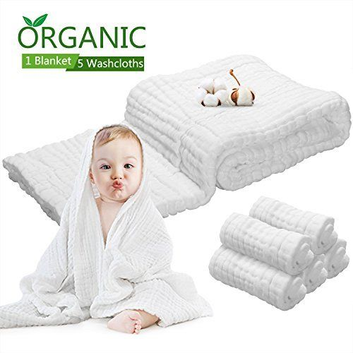 Baby Towel Muslin Baby Bath Towels Natural Antibacterial Water Absorbent 100 Cotton Bath Towels Of 6 Layers 5pcs Pure Cotton Fac Baby Gift Ideas Baby