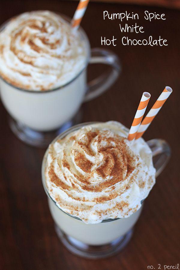 Pumpkin Spice White Hot Chocolate Recipe... Love me some!