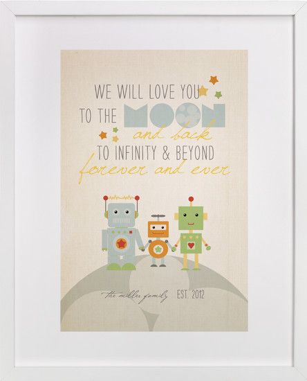 this robot family print is so stinkin' cute!