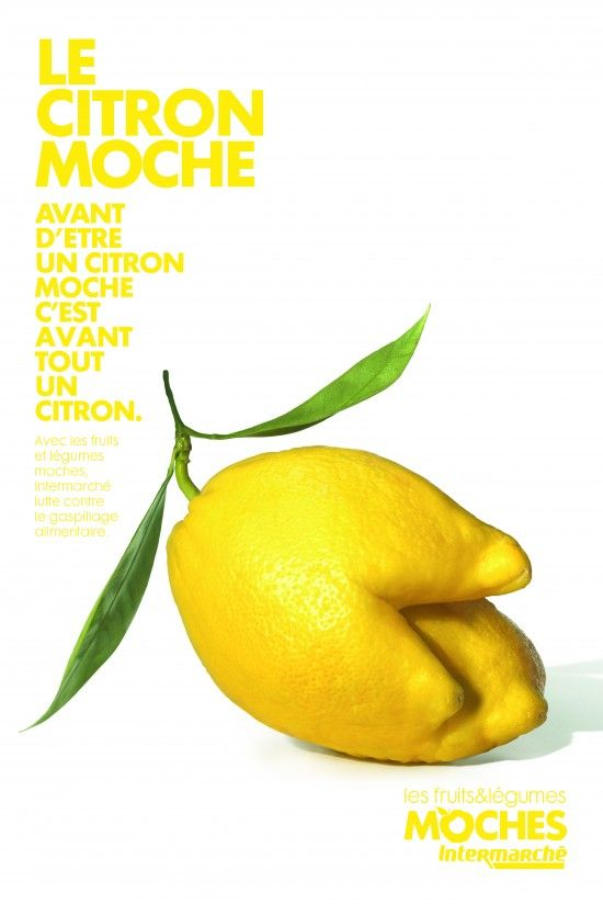 Citron moche -- LES FRUITS ET LEGUMES MOCHES - BY INTERMARCHE