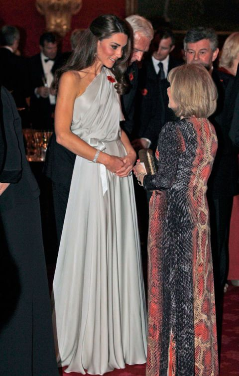 Lovely in a one-shouldered Jenny Packham dress at a charity gala at the St. James Palace in London.