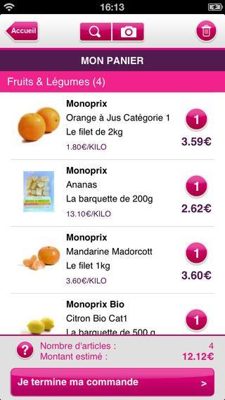 Monoprix Courses par Monoprix