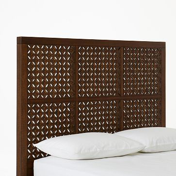 Carved Headboard - Café #westelm