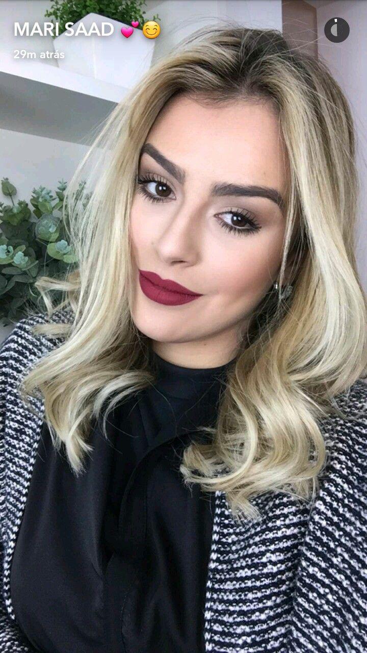 @blogbrunalucena #redlips #makeup #makeuptime #maquiagem #blondehair #marianasaad