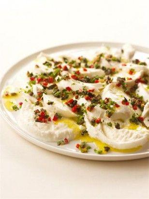 MOZZARELLA WITH CRAZY GREMOLATA http://www.nigella.com/recipes/view/mozzarella-with-crazy-gremolata-89#
