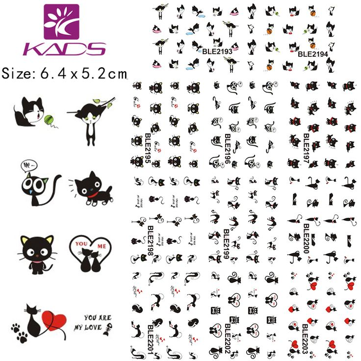 11Sheet/lot BLE2193-2203 Black Cat design Water decal Nail Sticker For nail water transfer nail decals for Sticker Decals #>=#>=#>=#>=#> Click on the pin to check out discount price, color, size, shipping, etc. Save and like it!