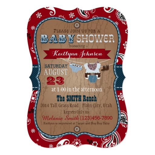 433 best Western Baby Shower Invitations images on Pinterest Baby