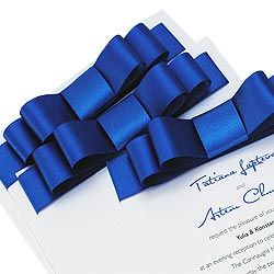 Handmade Wedding Invitations in Royal Blue | La Belle