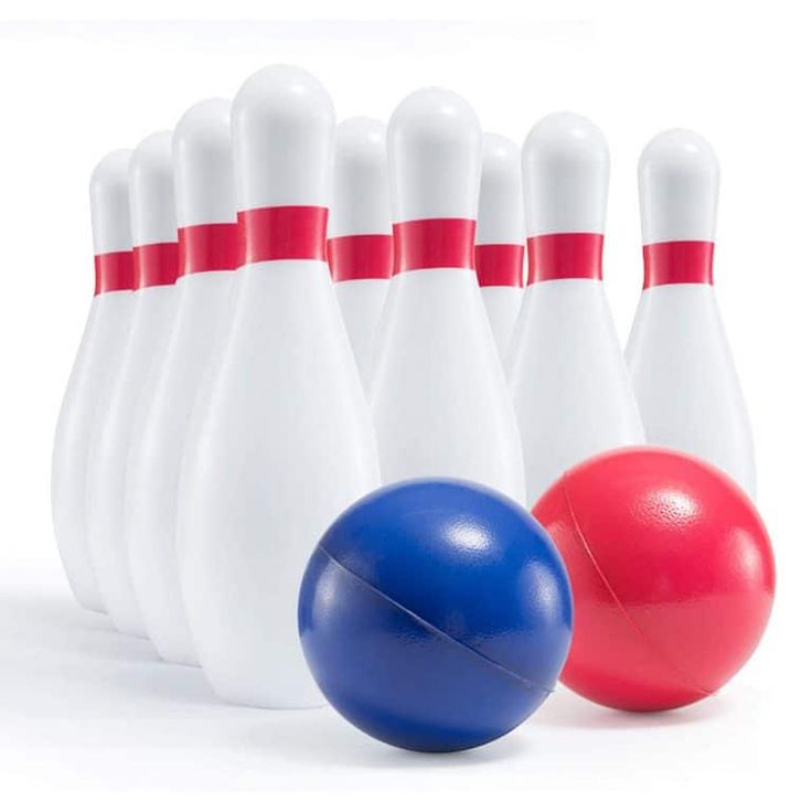 Kids Giant Bowling Game Set Inflatable Jumbo Bowling Pins And Ball For Outdoor And Indoor Use For Children And Adults By Bowling Games Family Games Bowling