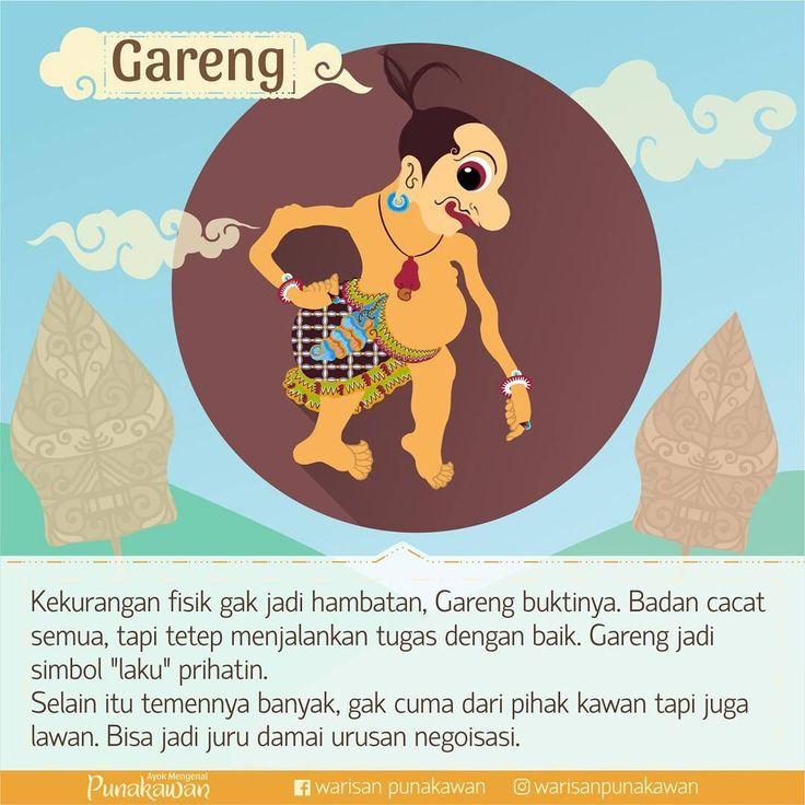 Kekurangan fisik Gareng paling banyak, tapi tidak pernah mengeluh bahkan selalu memberi semangat pada yang laen. Jangan jadikan kekutangan jadi hambatan, terus bersemangat, terus berkarya. #warisanpunakawan #punakawan #heritage #wayang #wayangkulit #budaya #culture #puppet #shadowpappet #semar #gareng #petruk #bagong #indonesia #jogja #kampanyebudaya #budayaindonesia #java #infographic #infografis #history #atribut #edukasi