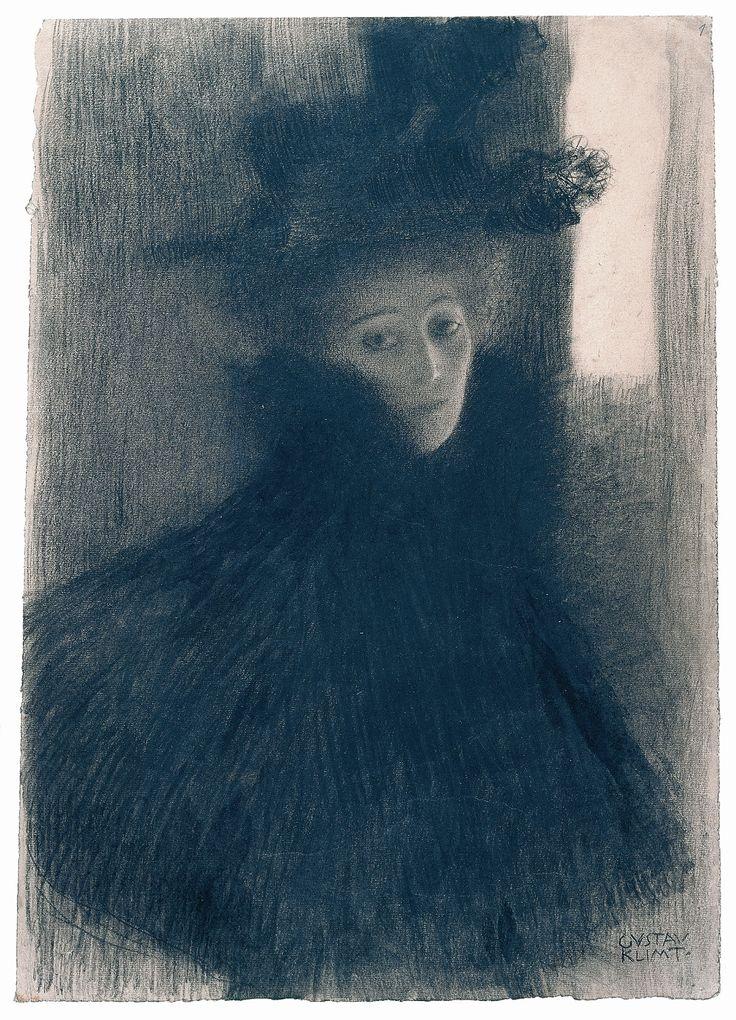 """Gustav Klimt I Weibliches Bildnis (Studie für """"Unkeuscheit"""", Beethovenfries, Wiener Secession) - Portrait of a Woman (Study for """"Lasciviousness"""", Beethoven Frieze, Secession, Vienna) I 1901, ©Albertina, Wien"""