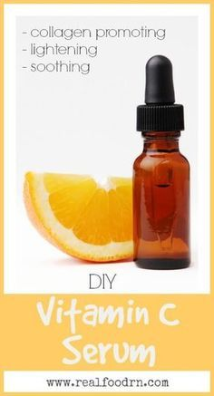DIY Vitamin C Serum. Make your own vitamin C serum and save yourself some money! No more expensive makeup counter serums. Plus its only made with a few non-toxic ingredients! realfoodrn.com #vitamincserum #skincare