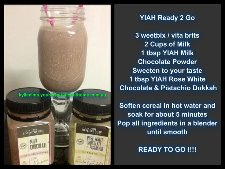 YIAH Ready 2 Go Breakfast Smoothie