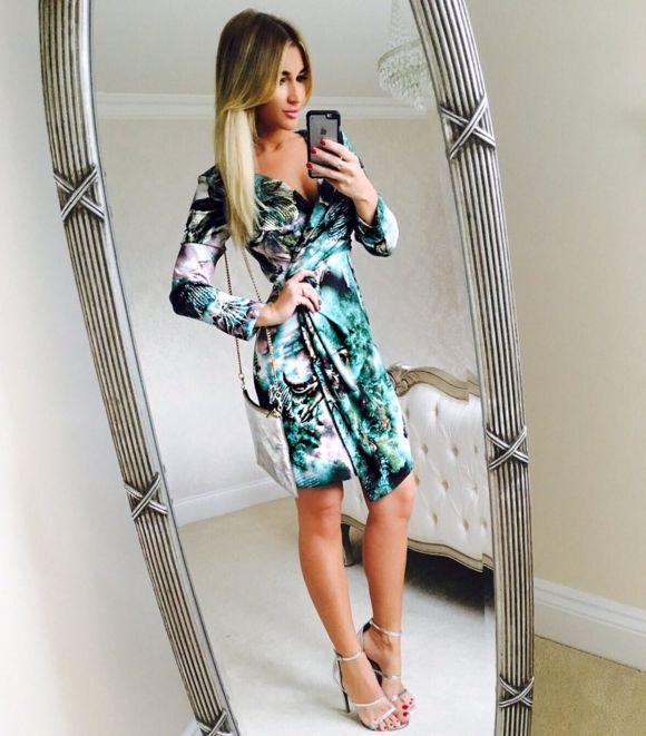 Wonderful Billie Towie In Her Closet London Printed Wrap Dress