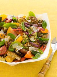 grilled vegetable panzanella salad | salads- side dishes | Pinterest