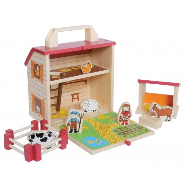 Wooden Barn House Boxset - the Perfect Travel Companion by Tiger Tribe Very cute, take along toy...